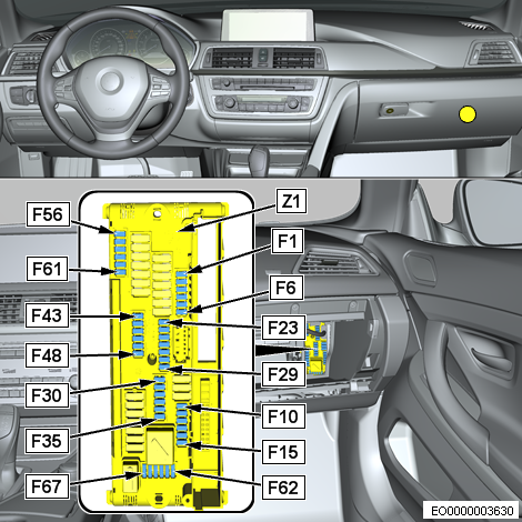 {f48 - is in the glovebox in the left row   see f43 - f48 in pic below}