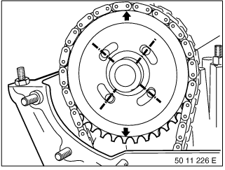 11 12 100 Removing and installing/sealing cylinder head (M52 / S52)