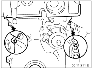 11 14 110 Removing and installing lower timing case cover (M52 / S52
