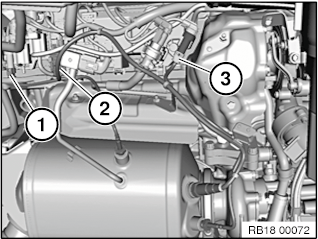 18 31 080 Removing and installing/replacing diesel