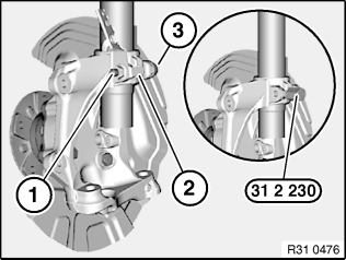 31 31 031 Replacing front left or right spring strut shock